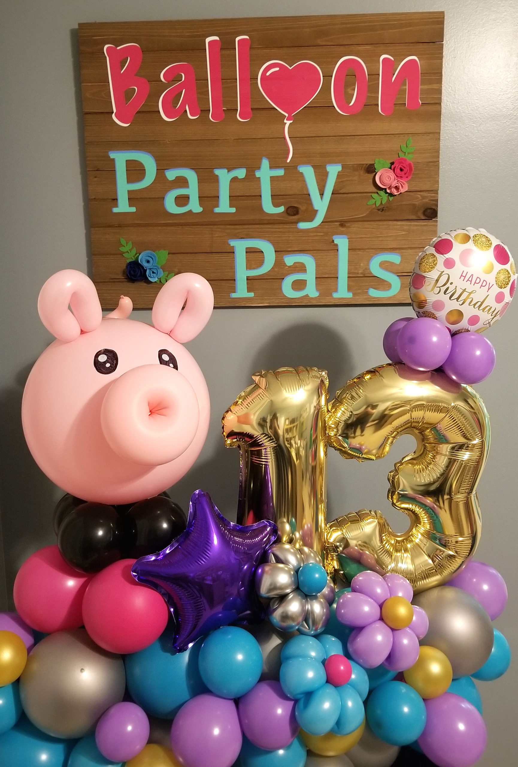Pig Themed Balloon Marquee Decoration